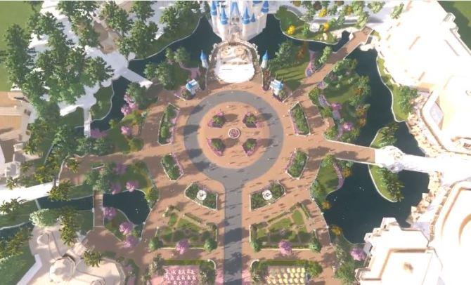 Disney Parks Blog Screen Shot - Magic Kingdom Hub Expansion Concept Art