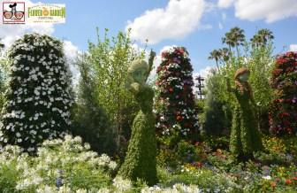 New Topiary for 2015 Anna & Elsa- Epcot International Flower and Garden Festival 2015