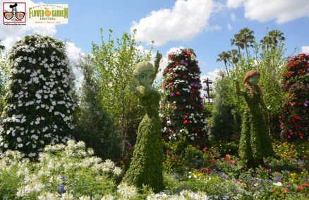 New Topiary for 2015 Anna & Elsa- Epcot International Flower and Garden Festival 2015