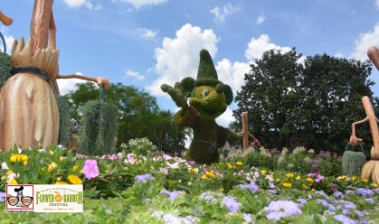 Sorcerer Mickey Topiary - Epcot International Flower and Garden Festival 2015