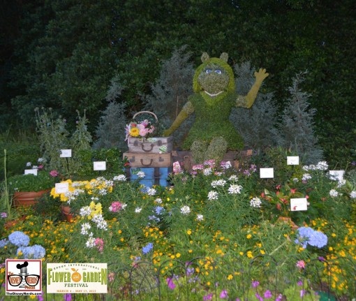 Miss Piggy and Tour de Fleurs Garden - near Italy - What happened to Kermit? - - Epcot International Flower and Garden Festival 2015
