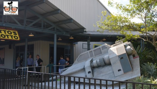 Darth's Mall moved into he former American Film Institute Building - the load and unload for the back lot tour. Star Wars Props from the bone yard moved to the new location.