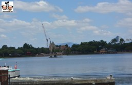 """Construction has started on the third soar'n theater behind Canada. The existing theaters are the blue building slightly to the right of Canada. They are painted """"Go Away Blue"""" a color designed to allow the building to disappear with the sky."""
