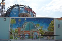"Planet Hollywood is open, but completely behind walls... here is the concept art for the ""Disney Springs"" version of Planet Hollywood."