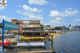 A few of the construction at the Hanger from the Dockside Bar (Amphicar Landing nearby)