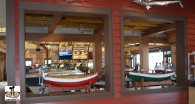 Boat house theme continues in every corner of the dining rooms