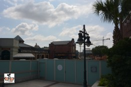Raglan Road is surrounded by construction and construction walls