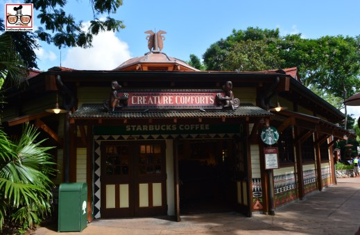 Creature Comforts is out from behind walls - Animal Kingdoms new Starbucks - This marks a Starbucks in every Florida Disney Theme Park with multiple locations DowntownDisney Springs)-