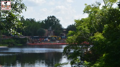 """""""Rivers of Light"""" Construction continues - walls all around the logon - you can see construction on the bridges."""
