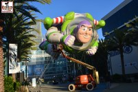 Buzz Lightyear takes flight in front of the Anaheim Convention Center - Toy Story Celebrates it's 20th anniversary