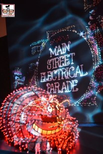 An original float from Disneylands Main Street Electrical Parade - This one didn't make the trip to WDW
