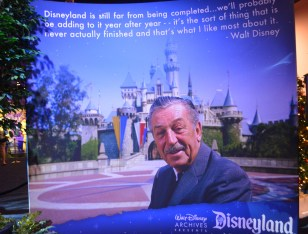 The final display from the Disney Archives Disneyland 60th exhibit...