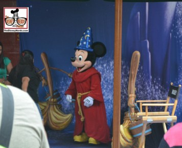 Sorcerer Mickey can be found in the former queue for Backlot Tour...