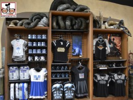 Watto's Grotto reopened, looking exactly like it did for star wars weekend, with all new Episode 7 merchandise.