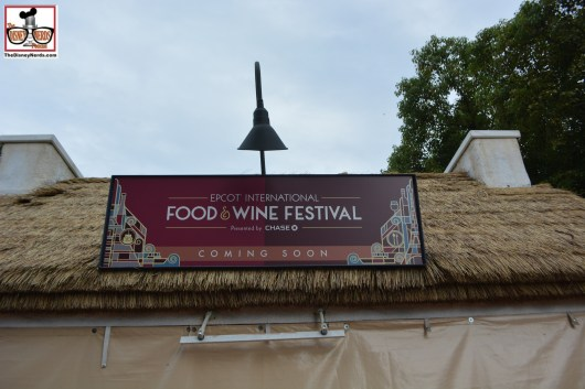 Epcot is gearing up for the food and wine festival... feels so empty with no booth open..