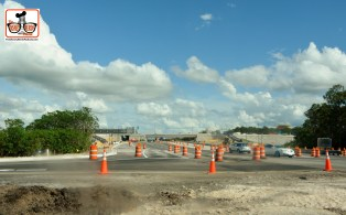 Disney Springs Construction continues - The Bridge across world drive now accepts cars directly into the parking structure. No more left turn into down town Disney, take the ramp over to Disney Springs. When Finished, the center lanes will be only Disney buses,