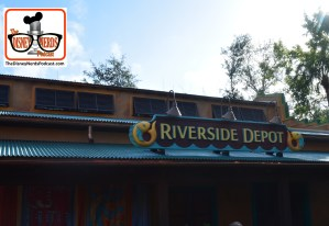 2015-12 - Animal Kingdom - Riverside Depot - a New Merchandise Store is ready to open any day. As you walk from Oasis toward the tree of life, this is on the right side - it was behind walls for the last Disney Nerds Podcast photo report