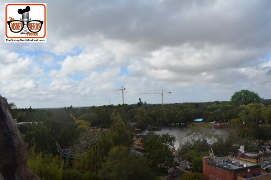 "2015-12 - Animal Kingdom - Pandora The World Of Avatar construction as seen from the drop hill of Everest. You an see the first ""floating island"""