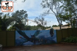 2015-12 - Animal Kingdom - Pandora–The World of Avatar construction Concept Art now on the path that once lead to camp Minnie Mickey