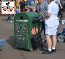 2015-12 - Animal Kingdom - Garbage Can Pin Trading Stations have been popping up all over Walt Disney World - This one near the Tree of Life