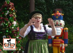 2015-12 - Epcot - Holidays Around the World in Germany's Helga tells the story of the First Christmas Tree and the NutCracker.