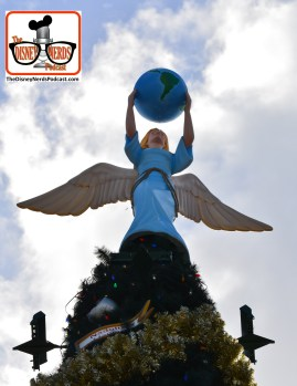 2015-12 - Epcot - Holidays Around the World The Angel atop the World Showcase Christmas Tree