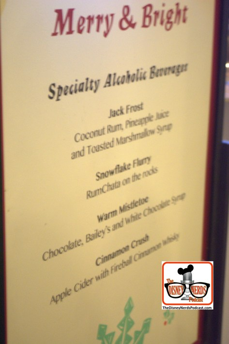 2015-12 - Hollywood Studios - Merry & Bright Holiday Lights Dessert Party Drink Menu