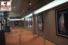 2015-12 - Hollywood Studios -Star Wars Posters cover the queue.