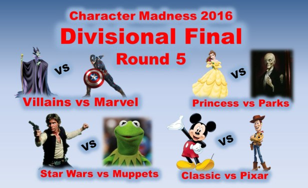 The Disney Nerds Podcast Character Madness 2016 0 Round 5 - Divisional Round
