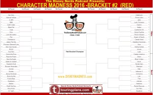 The Disney Nerds Podcast Character Madness 2016 - Red Bracket