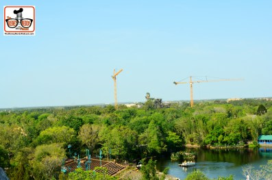 DNP April 2016 Photo Report: Animal Kingdom: Avitarland Construction from the top of Everest.