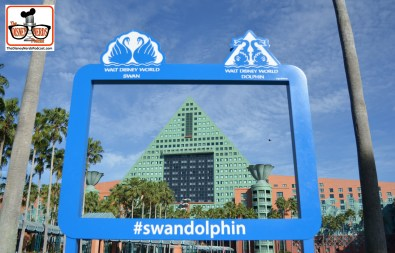 "DNP April 2016 Photo Report: new ""Frame"" photo op at the Swan and Dolphin #SwanDolphin"