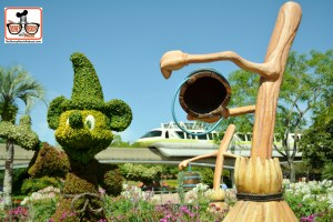 DNP April 2016 Photo Report: Epcot Flower and Garden Festival. Fantasia Display in Future World West with monorail