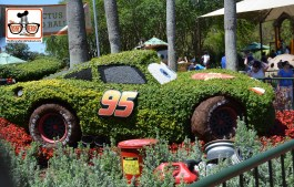 DNP April 2016 Photo Report: Epcot Flower and Garden Festival. Lightning McQueen on Cactus Road Rally Play Area