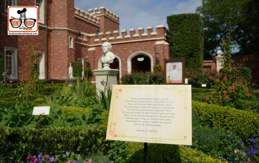 DNP April 2016 Photo Report: Epcot Flower and Garden Festival - Shakespeare garden in UK
