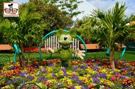 DNP April 2016 Photo Report: Epcot Flower and Garden Festival Mickey in the Kids Play Area - the Harmany Garden.