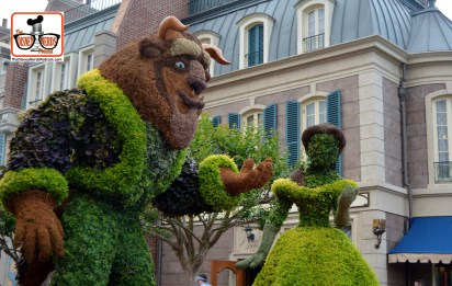DNP April 2016 Photo Report: Epcot Flower and Garden Festival - Belle and Beast