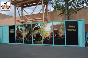 DNP April 2016 Photo Report: Hollywood Studios: Walls near One Mans Dream - Attraction is still open with a jungle book ending.