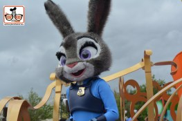 DNP April 2016 Photo Report: Magic Kingdom: Judy Hopps from Zootopia is now part of the Move it Shake it Parade.