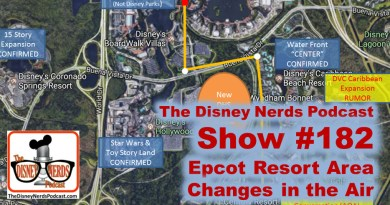 The Disney Nerds Podcast Show #182 - Changes in the Air for Epcot Resorts