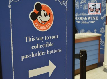 Are you an annual pass holder? If so be sure to pick up your Food and Wine Festival Button in the Festival Center