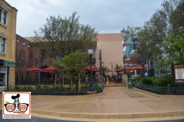 A look at the BaseLine Tap House from the center of Muppets courtyard