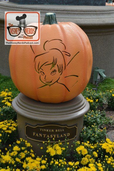 The Disneyland Hub - Complete with Pumpkins representing each of the lands. Tinker Bell - Fantasyland