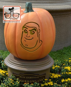 The Disneyland Hub - Complete with Pumpkins representing each of the lands. Buzz Lightyear - Tomorrowland