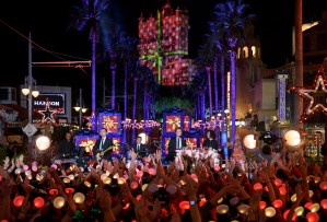 """Pop-rock trio Hanson performs at DisneyÕs Hollywood Studios at Walt Disney World Resort, Friday, Nov. 3, 2017, during a taping for """"The Wonderful World of Disney: Magical Holiday Celebration,Ó which premieres Thursday, November 30, 9Ð11p.m. ET on The ABC Television Network. (Todd Anderson, photographer)"""
