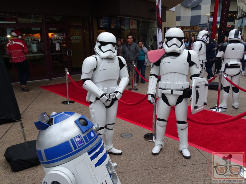 First Order Stormtroopers and R2D2 at Last Jedi Premiere at Disney Springs. (Photo by John Capos)