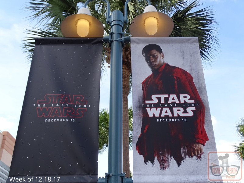 What more could we expect than Star Wars Launch Bay colorfully decked out in celebration of the release of The Last Jedi motion picture in theatres this past weekend. Banners dramatically align the outside courtyard, with a huge Resistance banner draped over the entrance in place of the former Death Star. Be sure to catch the Launch Bay Theater's new film about the movie and what to expect from Batuu in 2019. Loaded with The Last Jedi props and artifacts is the gallery walk- through area. Take some time here to view the detail of each display.