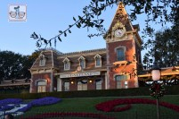 Disneyland Railroad Station ready for the holidays