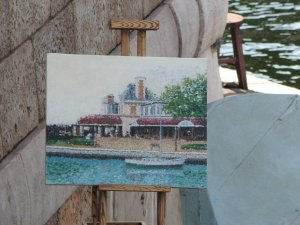 Epcot Painting Close up