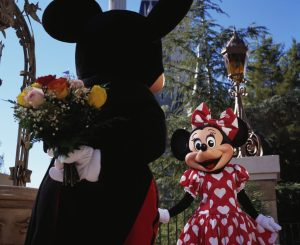 Mickey Mouse prepares to surprise his favorite Valentine, Minnie Mouse, with a bouquet of flowers. Whether it's a day or night out with that special someone, the entire family or a group of friends, Walt Disney World guests can share magical experiences throughout all four theme parks and Disney Springs during the most romantic week of the year. (Disney)